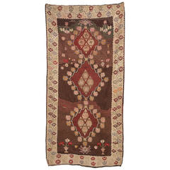 Turkish Kilim Kars, Dated 1947, from Private Collection