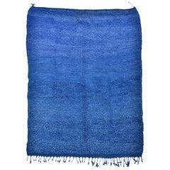 Blue  Moroccan Carpet Ait Ouaouzouite, vintage