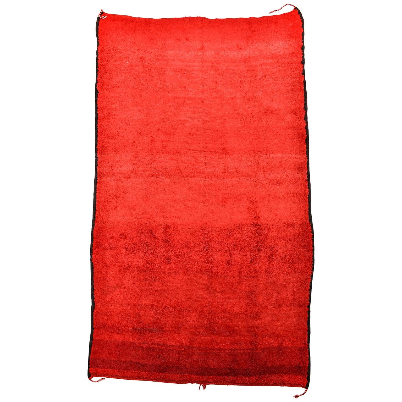 RED Moroccan Large  Vintage Rug