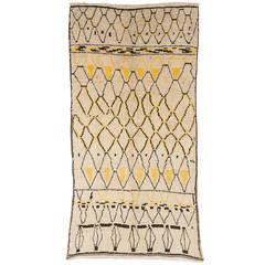 Vintage Ait Bougemmaz Moroccan Rug