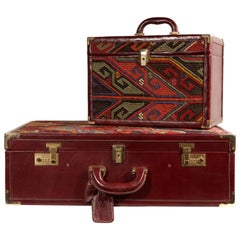 SET Suitcase and Beauty Case with Kilim, Vuitton Model
