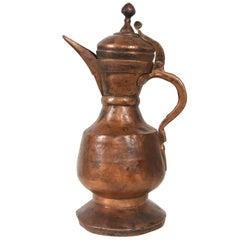 "Old Turkmenistan Tea Copper Caraf ""Aftabeh"""