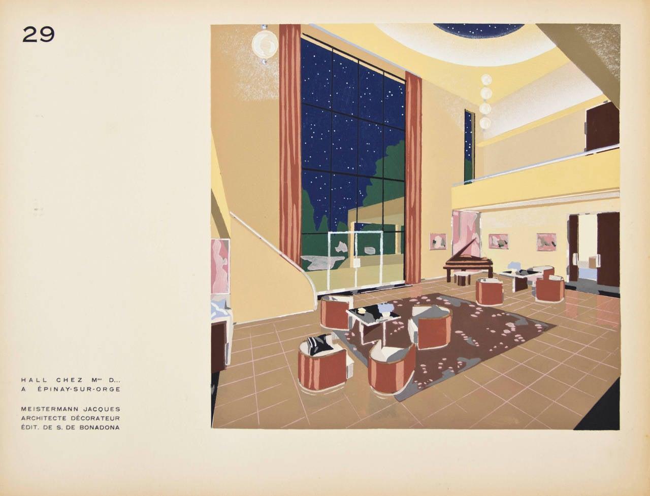 Four prints from d coration moderne dans l 39 int rieur by for Decoration interieur appartement 2 pieces