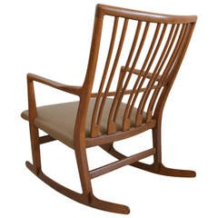 Rare Hans Wegner for Mikael Laursen ML-33 Rocking Chair