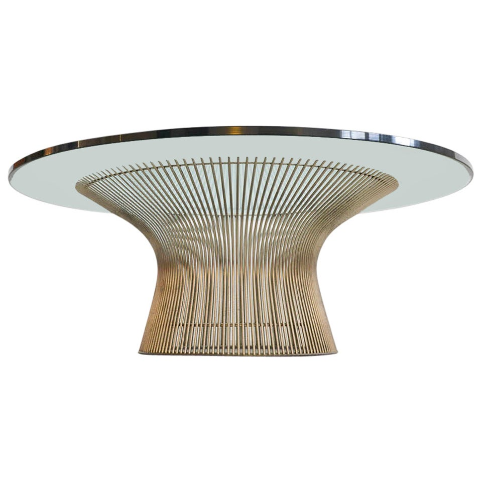 Round coffee table by warren platner for knoll at 1stdibs for Warren platner coffee table