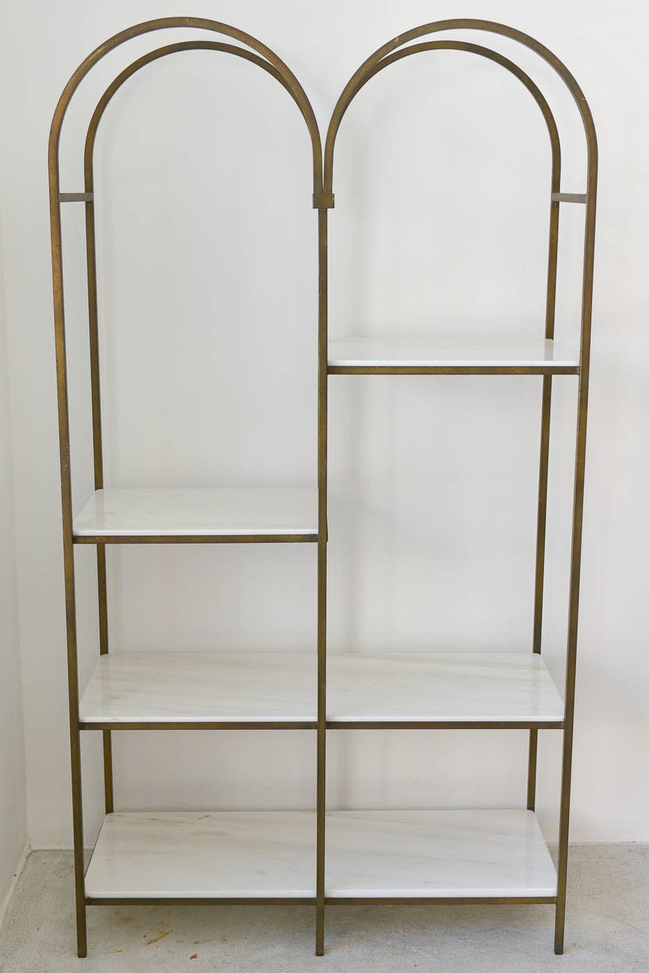 Frederick Weinberg Iron And Marble Etagere At 1stdibs