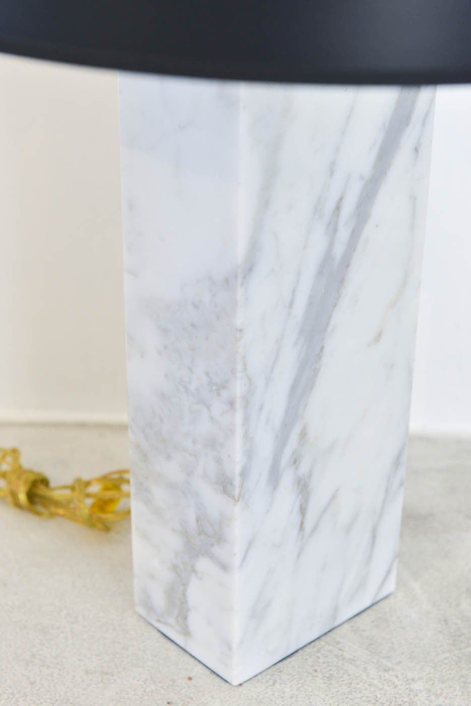 Solid Marble Column Table Lamp At 1stdibs