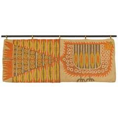 Rare Evelyn Ackerman Hand Hooked Bird Tapestry