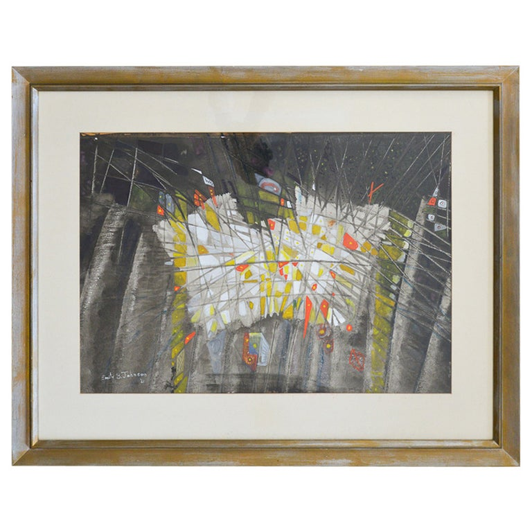 Original Abstract Watercolor by Emily B. Johnson '61 For Sale