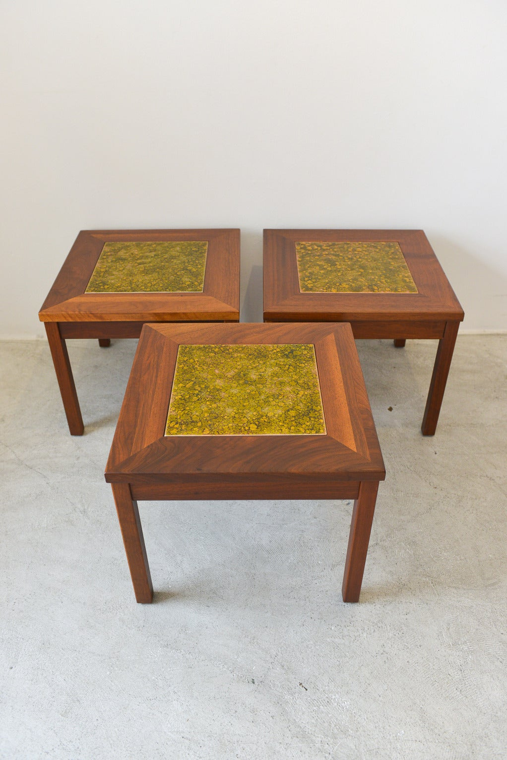 Enameled Copper Tile Tables by Brown Saltman at 1stdibs