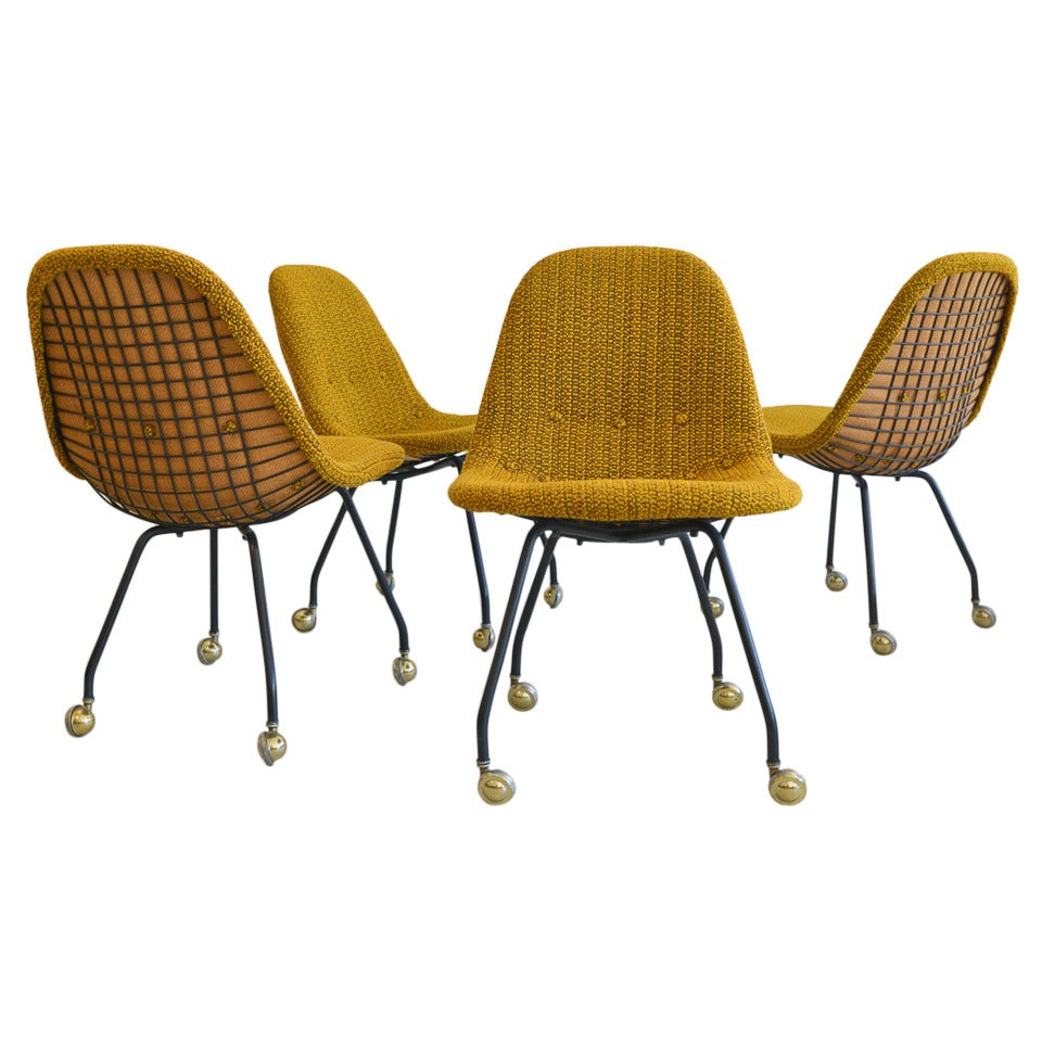 Rare Set Chairs At Eames Mesh 1stdibs Wire Early Charles deBoCx