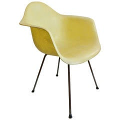 Early Eames Zenith Rope Edge DAX Armchair with X Base