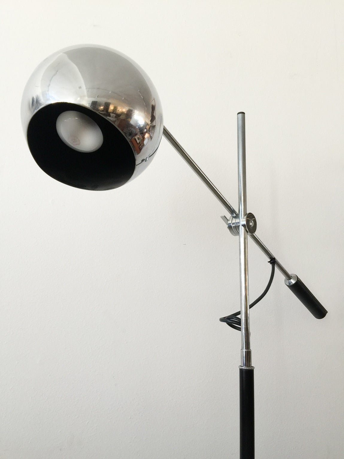 Single Arm Italian Chrome Tripod Lamp At 1stdibs
