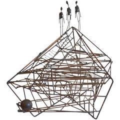 Kinetic Wire Sculpture by California Artist Guy Pullen