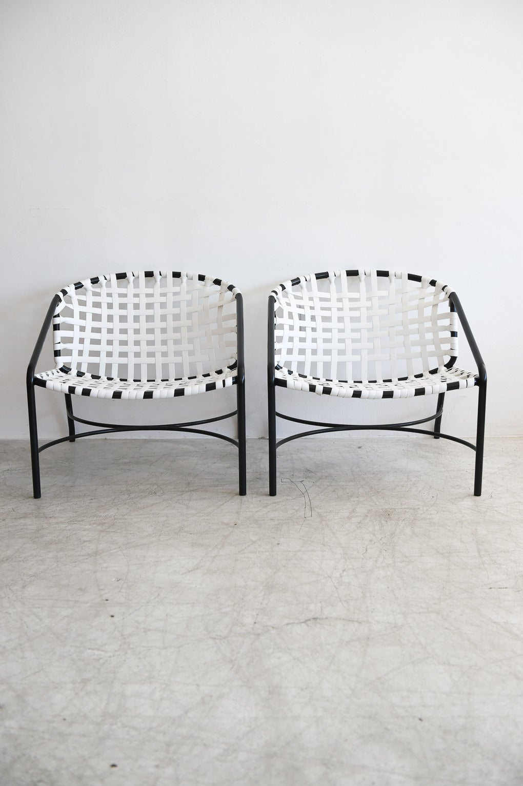 Tadao Inouye For Brown Jordan Kantan Chairs And Ottoman At