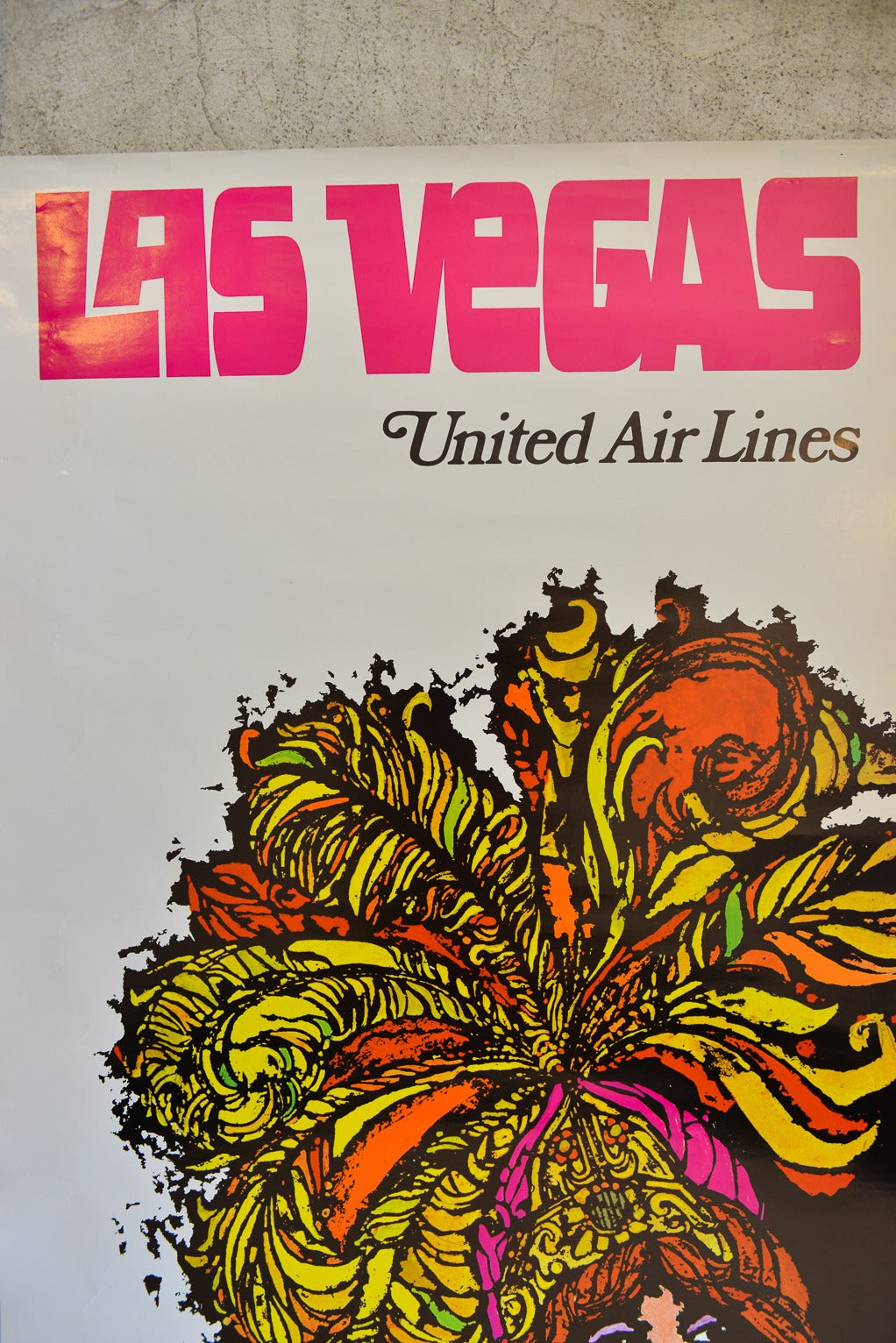 Vegas Vacation Poster: Vintage United Airlines Travel Poster For Las Vegas By