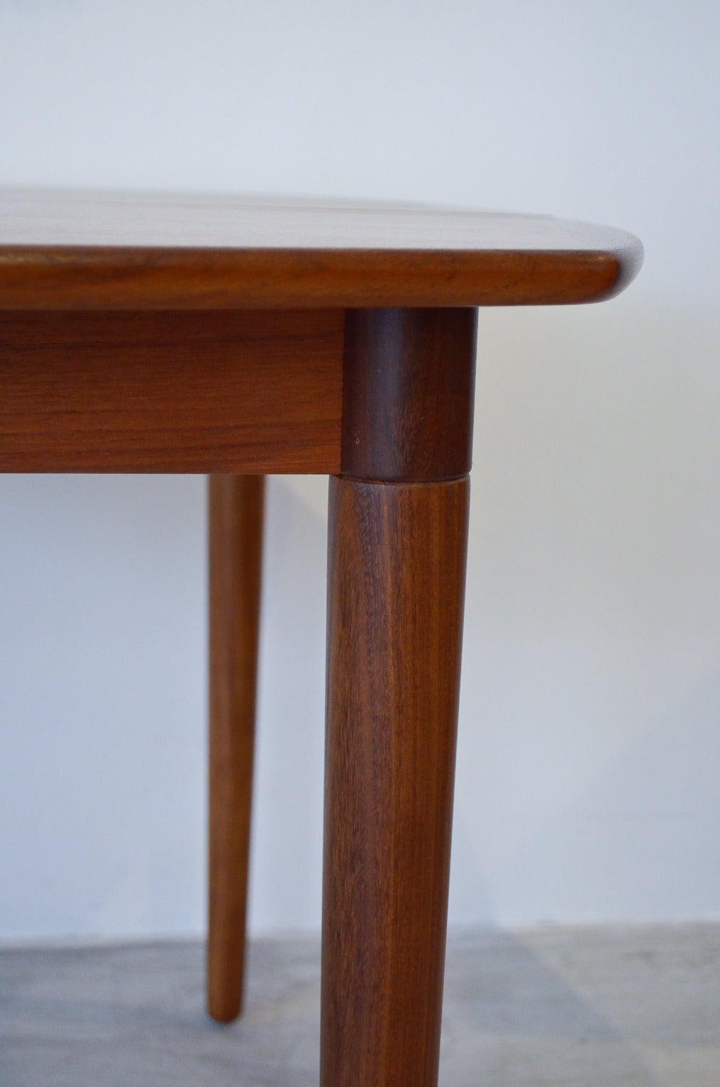 Danish Teak Dining Table By Koefoeds Hornslet At 1stdibs
