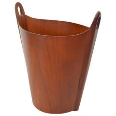 P.S. Heggen Teak Waste Basket