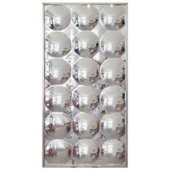 Op Art Plexiglass Bubble Mirror