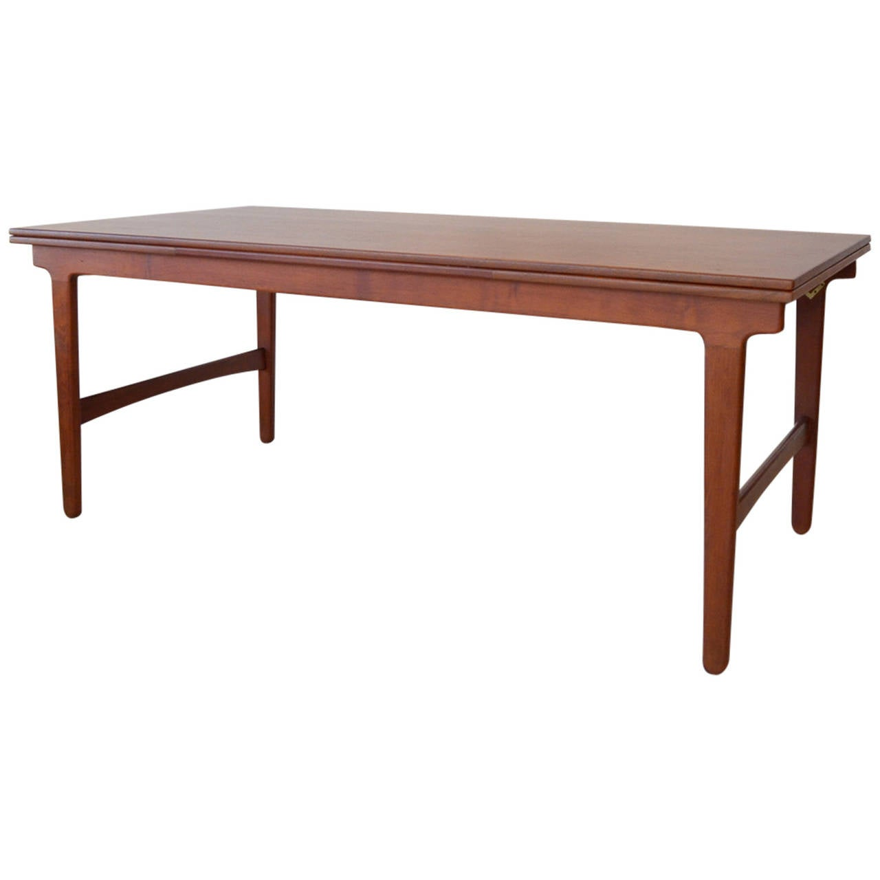Hans wegner for a p stolen sliding leaf dining table at for Dining room table replacement leaf