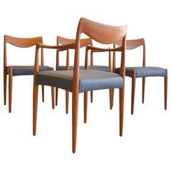 Rare 'Bambi' Sculpted Dining Chairs by Rolf Rastad and Adolf Relling