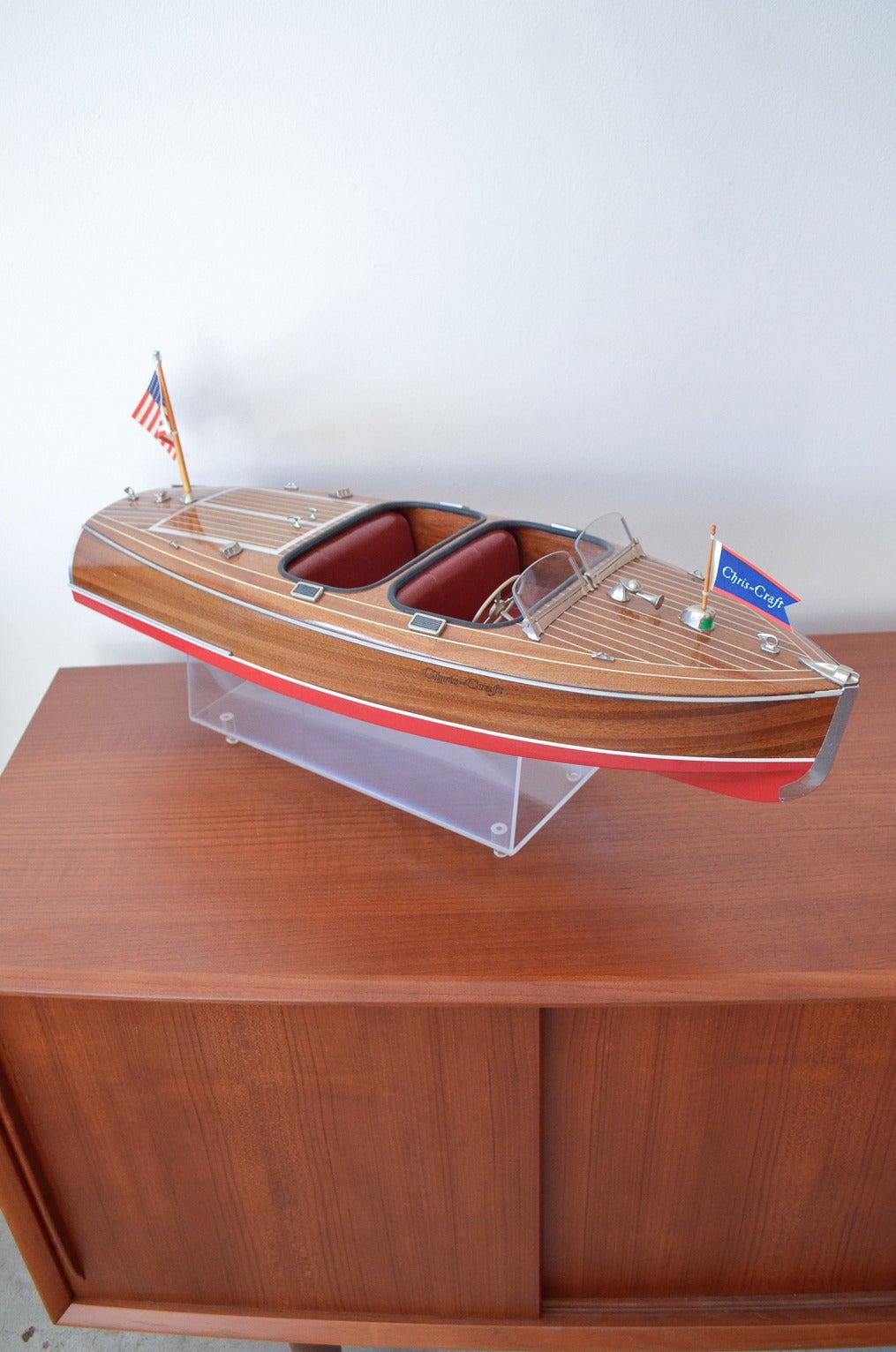 Vintage 1950s Chris Craft Model Boat At 1stdibs
