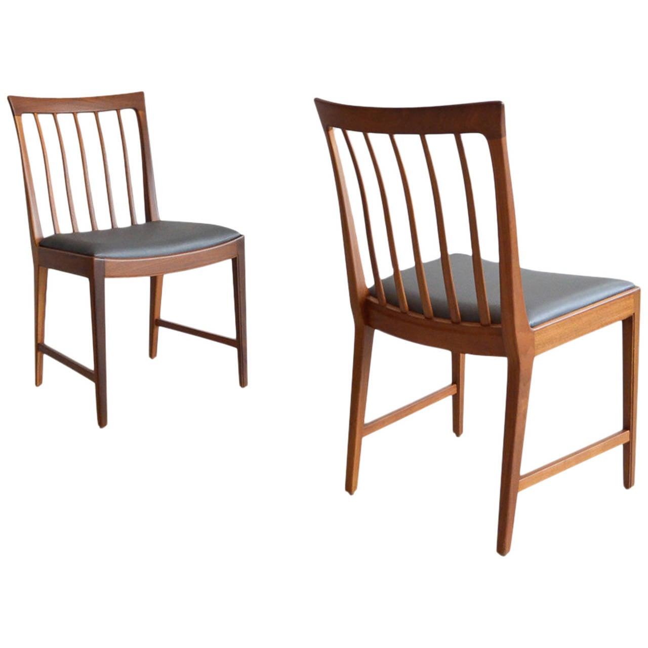 Slat Back Chairs pair of walnut slat back chairsmm moreddi sweden at 1stdibs