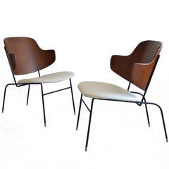 Rare PAIR of I.B. Kofod-Larsen Penguin Lounge Chairs