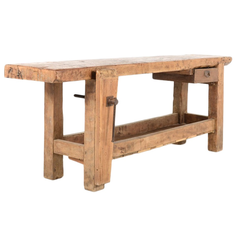 Industrial Workbench Or Carpenters Bench 19th Century French At 1stdibs