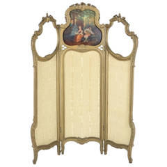 French Ladies Dressing Screen Louis XV Style