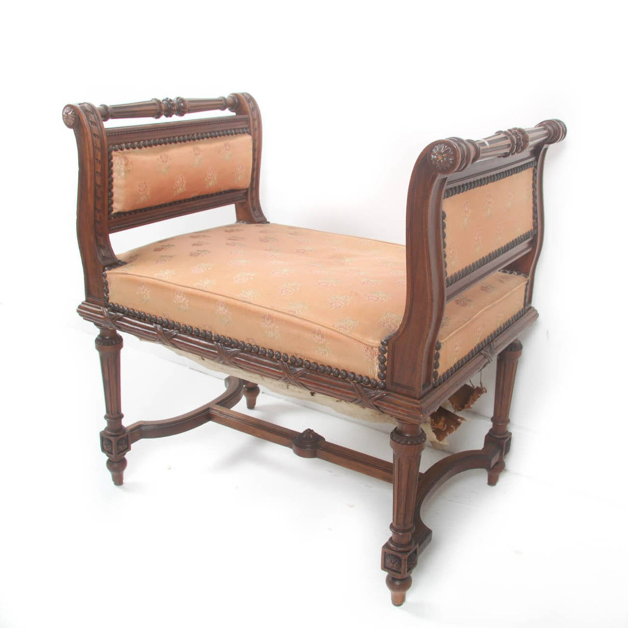 French vanity stool louis xvi style at 1stdibs - Antique vanity stools ...