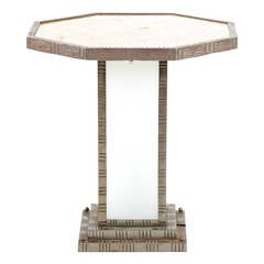 French Art Deco Table in the Manner of Edgar Brandt, circa 1920