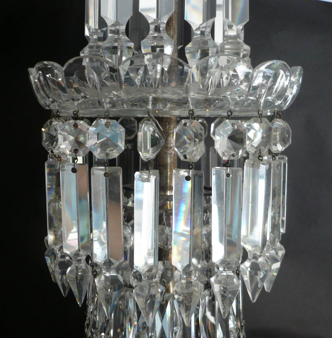 Mid-19th Century English Cut Crystal Chandelier by F. & C. Osler In Good Condition For Sale In Pittsburgh, PA