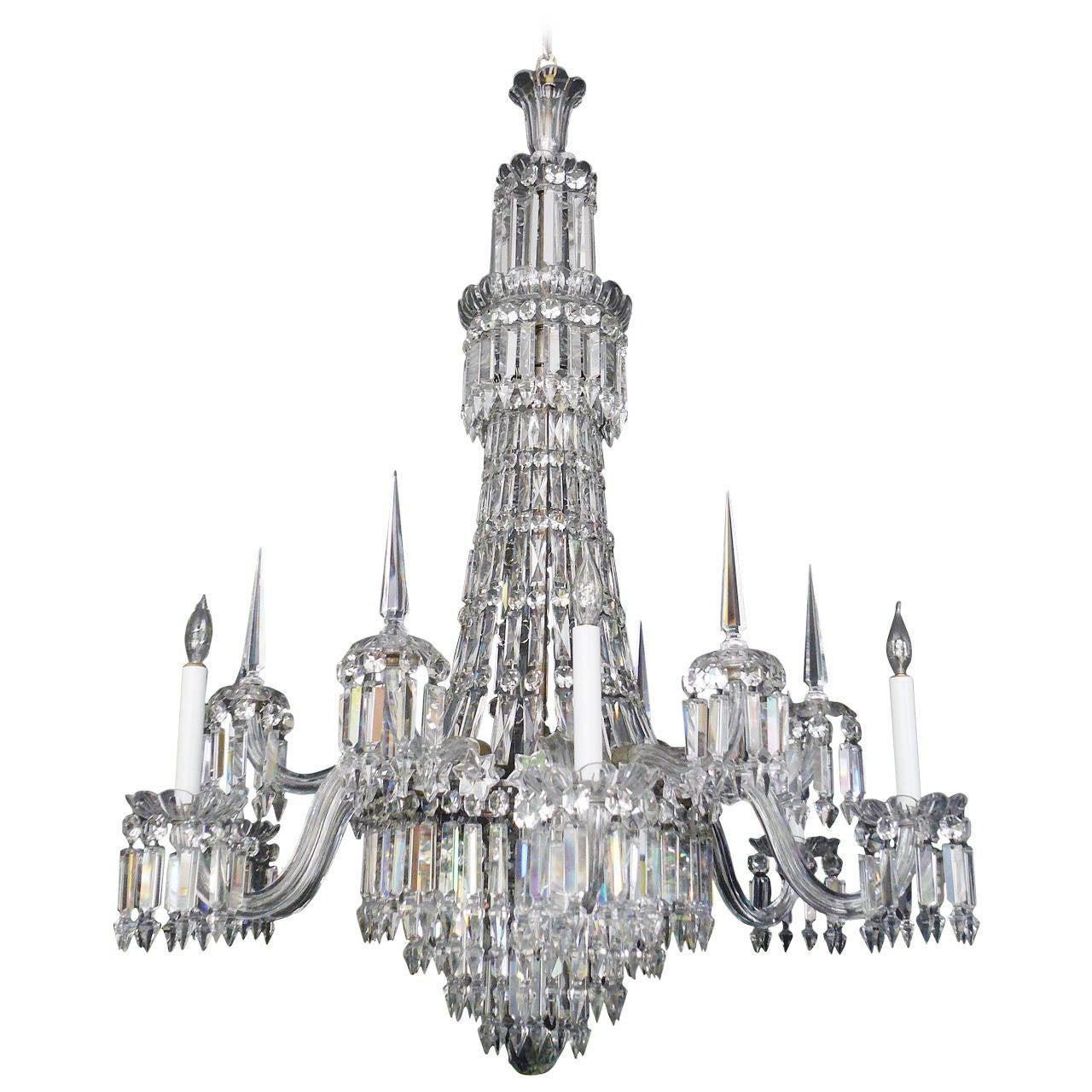 Mid 19th century english cut crystal chandelier by f and c osler mid 19th century english cut crystal chandelier by f c osler for arubaitofo Image collections