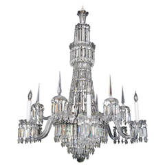 Mid-19th Century English Cut Crystal Chandelier by F. & C. Osler