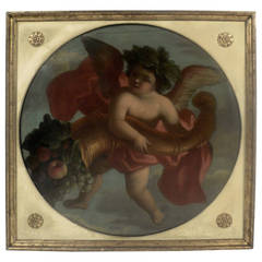 Four 19th Century Italian Allegorical Paintings, Emblematic of the Seasons