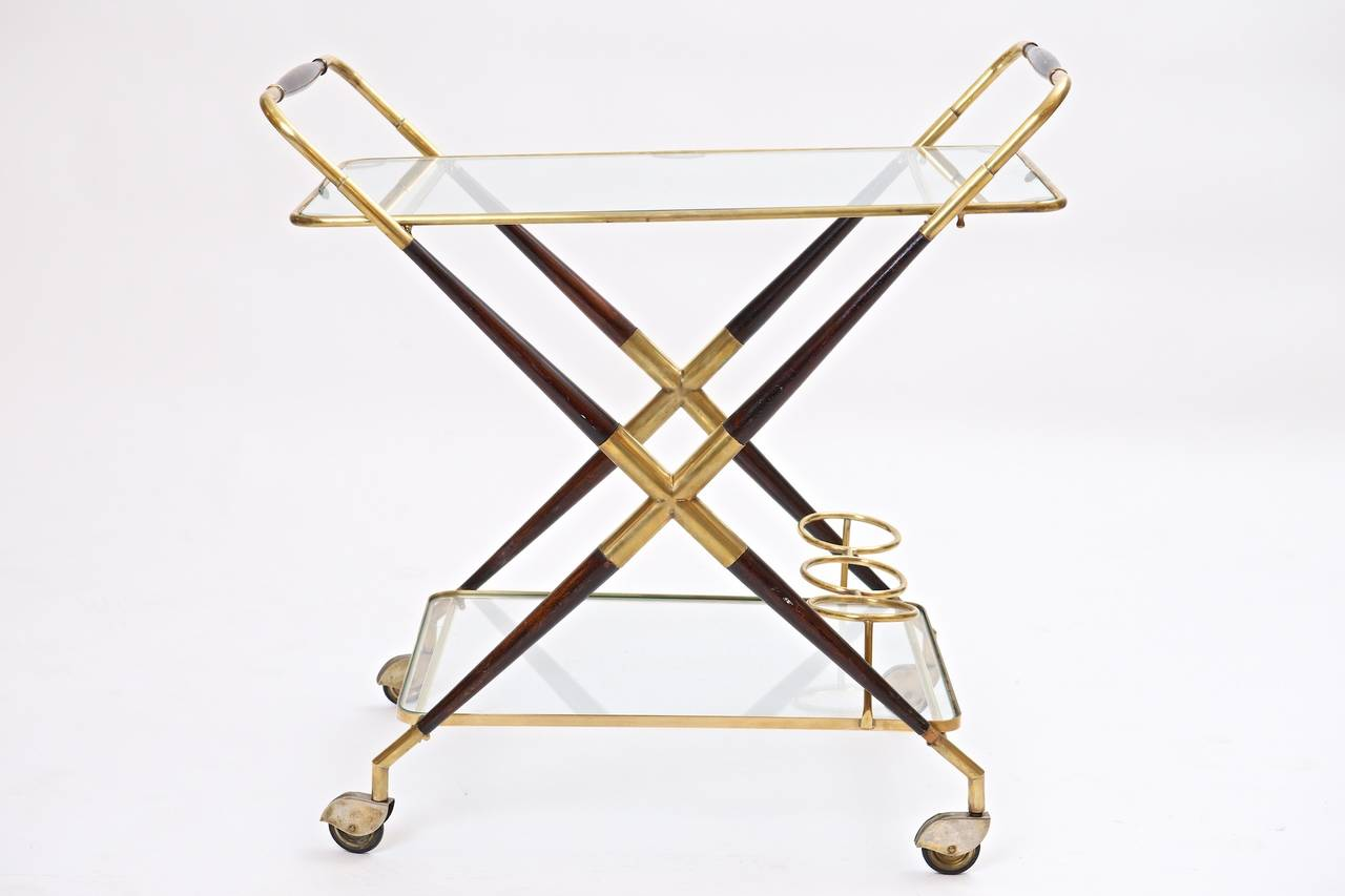serving trolley by cesare lacca at 1stdibs. Black Bedroom Furniture Sets. Home Design Ideas