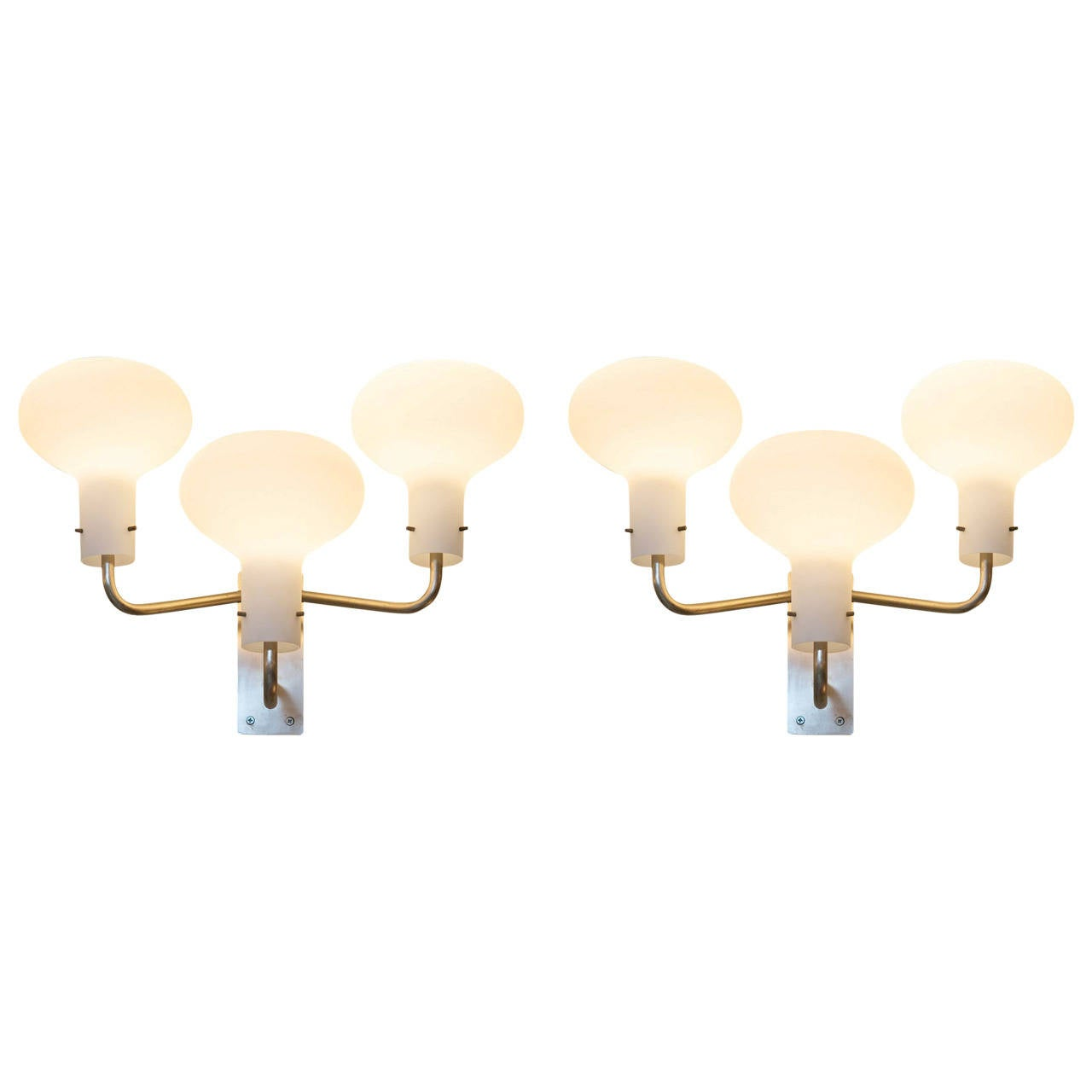 Ignazio Gardella Pair of Large Sconces for Azucena For Sale