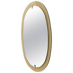 Italian Mirror with Colored Glass