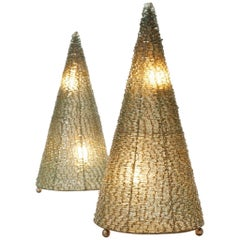 Large Pair of Conical Lights