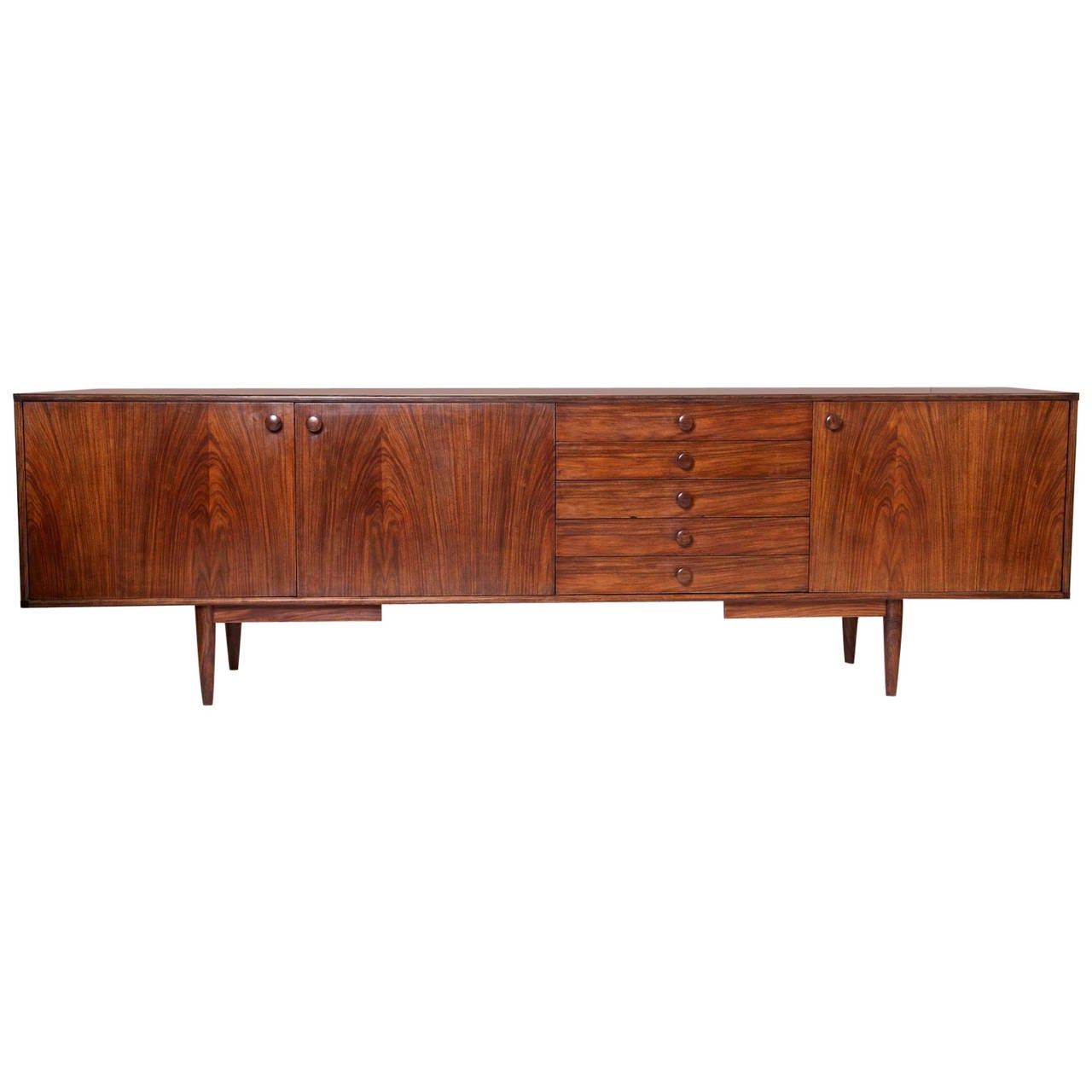 Long rosewood sideboard at 1stdibs for Sideboard 250 cm