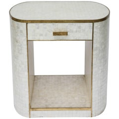 Capiz Shell and Antiqued Brass Cabinet by Platt Collections