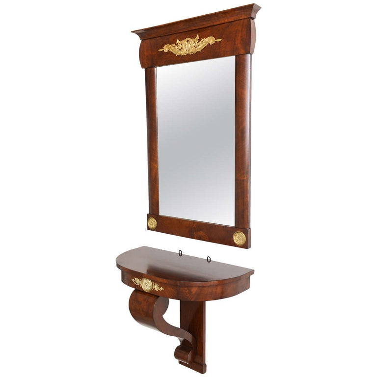 Wall-Hung Console with Mirror