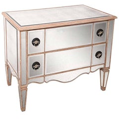 Mirrored Two-Drawer Chest