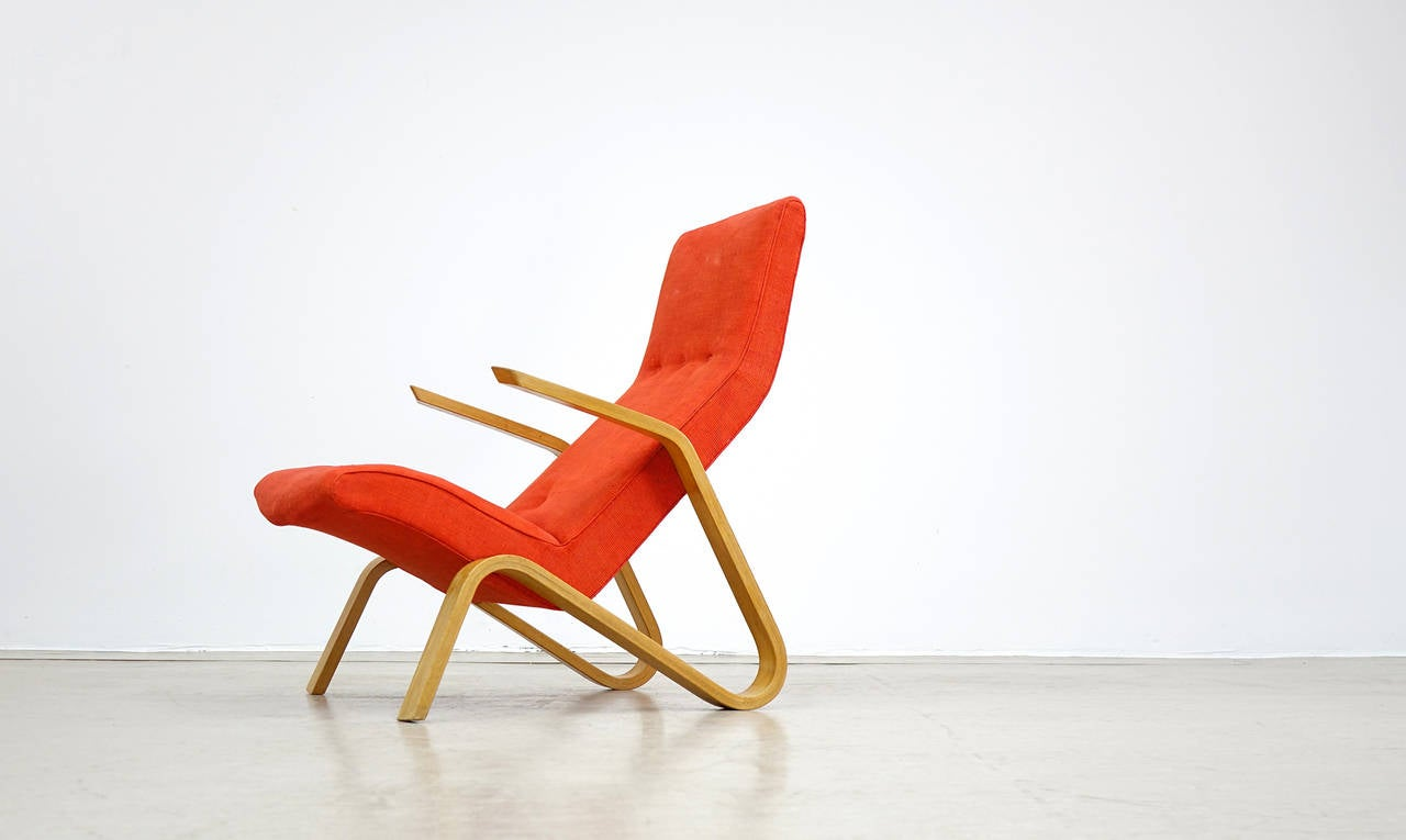 Eero Saarinen for Knoll International 1946 Grasshopper Lounge Easy Chair For Sale 3
