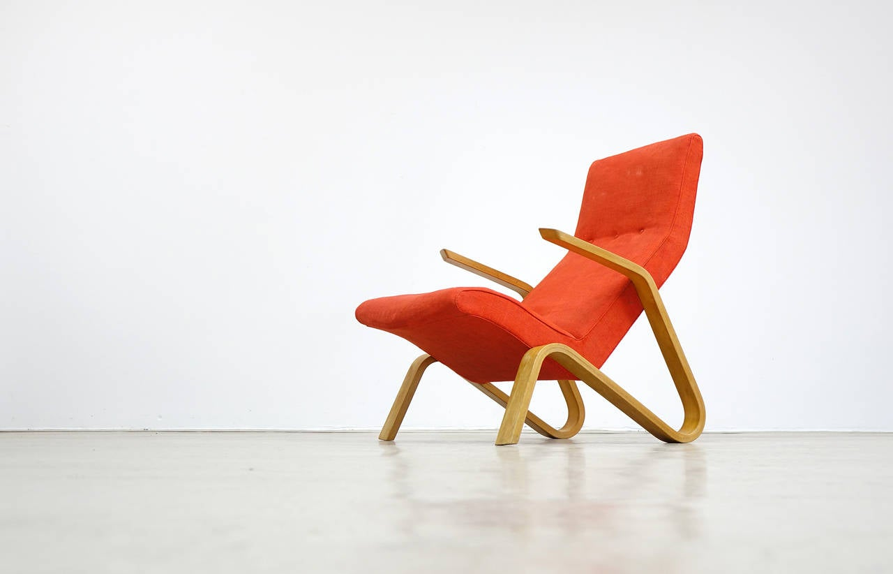 Eero Saarinen for Knoll International 1946 Grasshopper Lounge Easy Chair In Good Condition For Sale In Munster, NRW