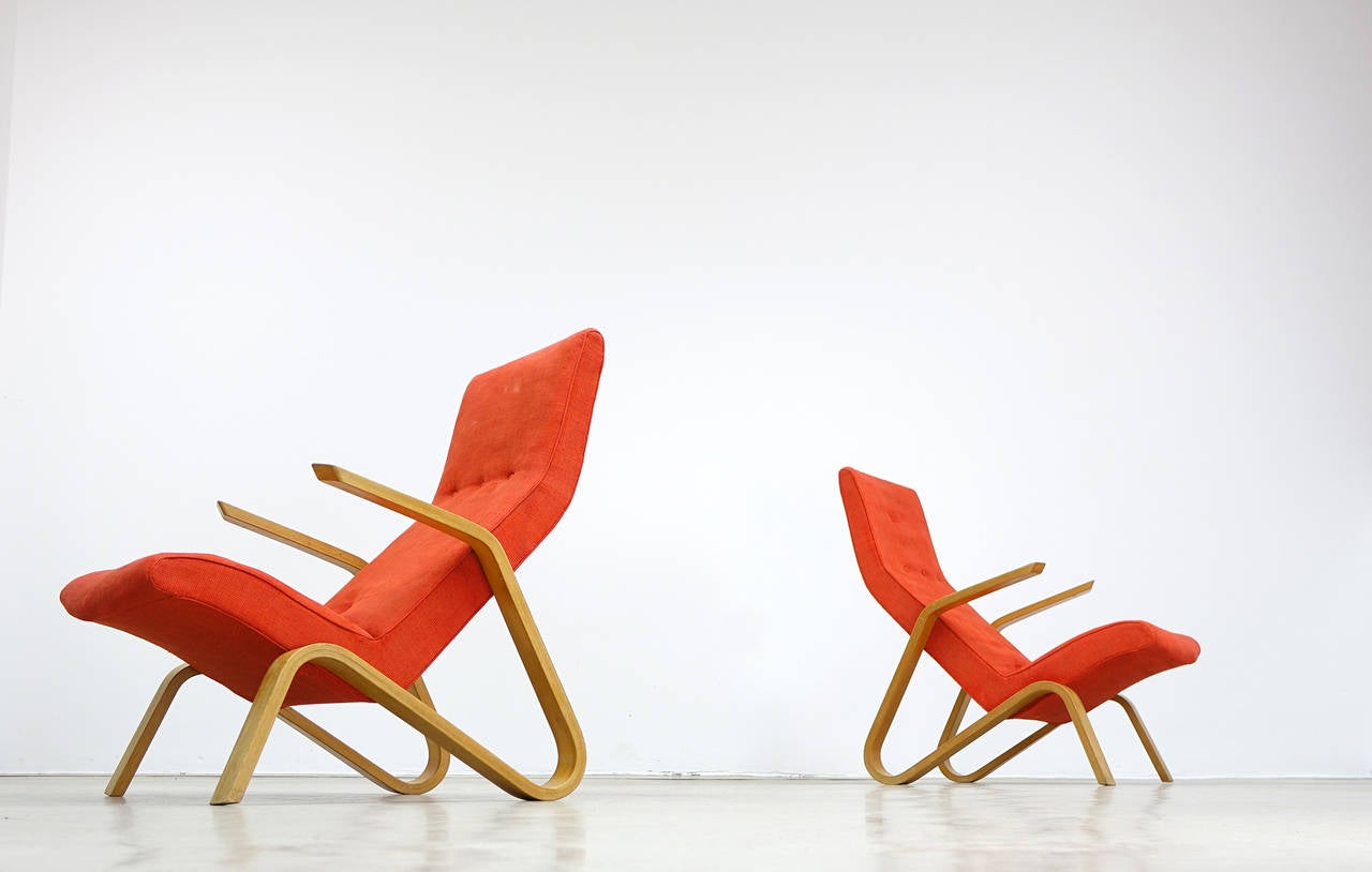 American Eero Saarinen for Knoll International 1946 Grasshopper Lounge Easy Chair For Sale