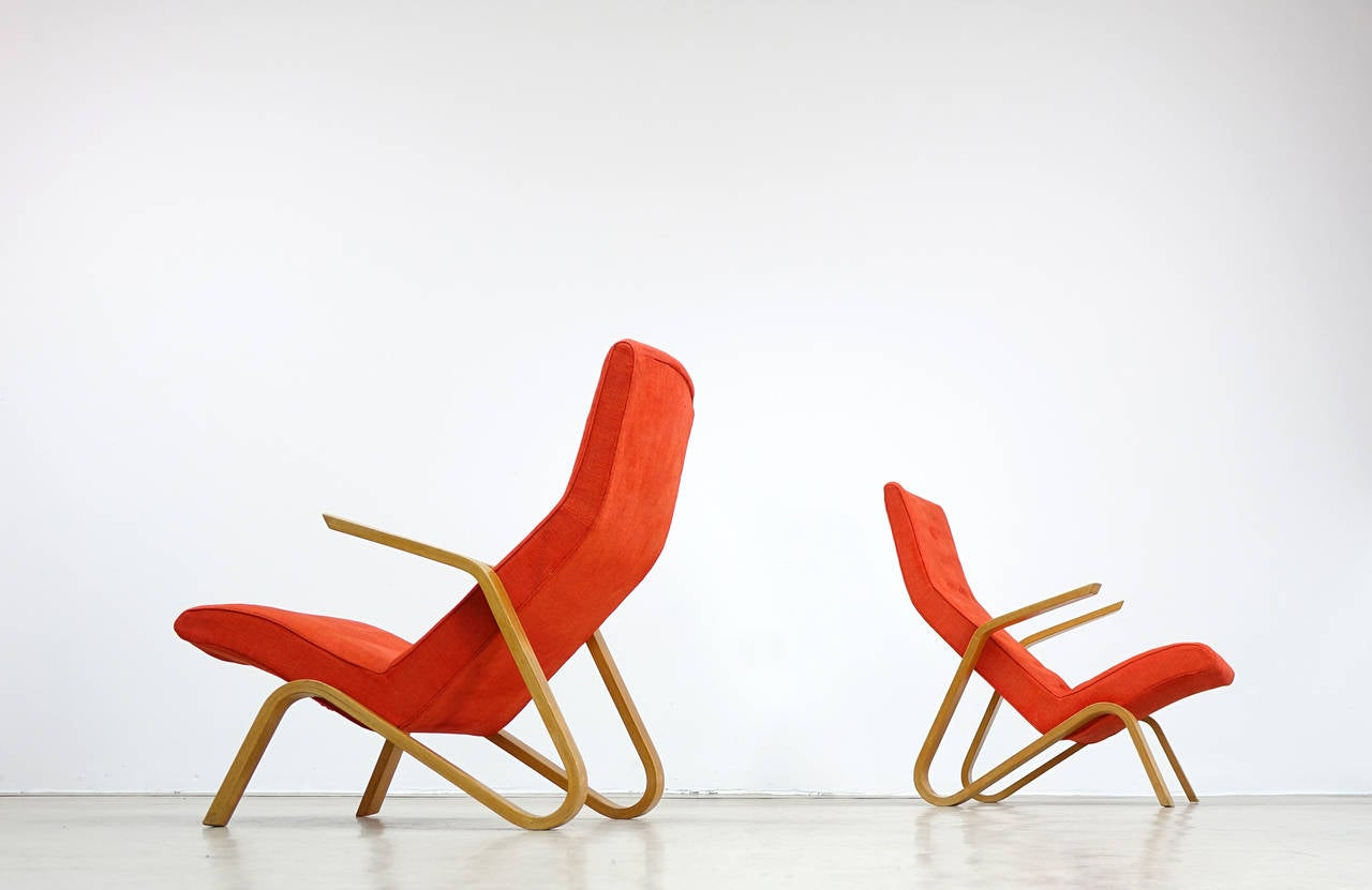 Plywood Eero Saarinen for Knoll International 1946 Grasshopper Lounge Easy Chair For Sale