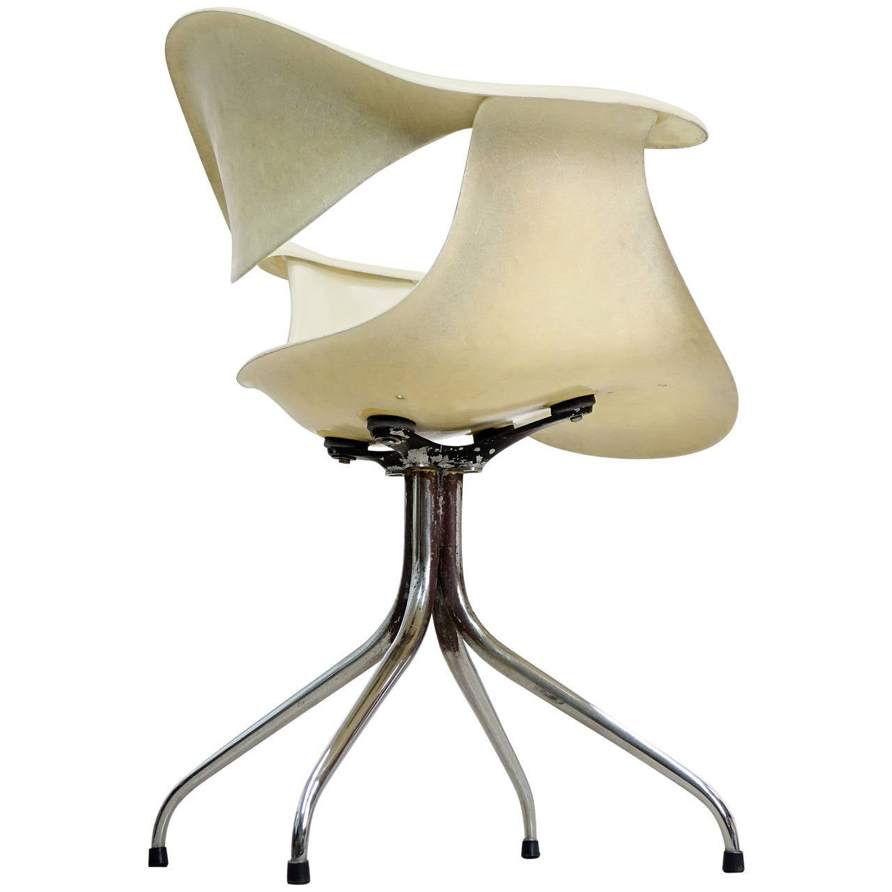 George Nelson For Herman Miller Early Swag Leg Chair At