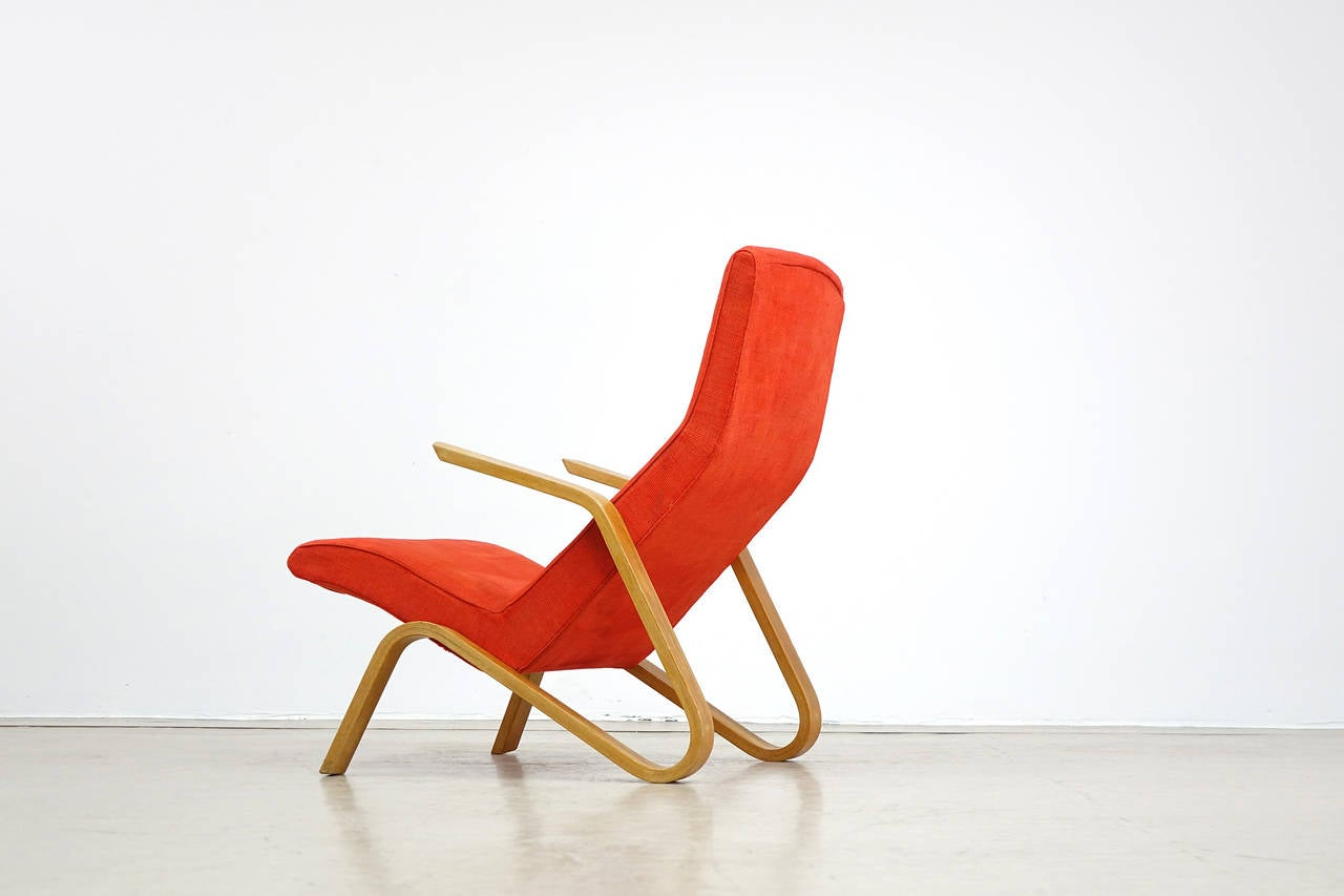 Eero Saarinen for Knoll International 1946 Grasshopper, Lounge Easy Chair In Good Condition For Sale In Munster, NRW
